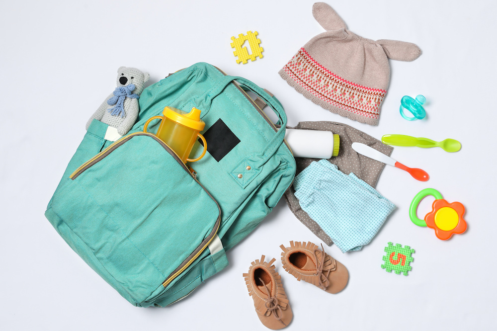 using a backpack as a diaper bag